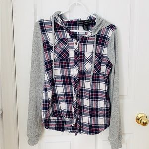 Wet Seal Flannel With Hood